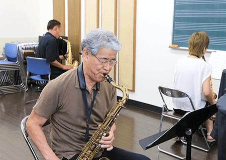 ジャズクラス防音完備室で自主レッスン